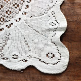 Weaved tablecloth Royalty Free Stock Image