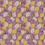 Weaved waves seamless abstract pattern. Weaved hand-drawn waves seamless abstract pattern vector illustration