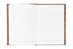 Weaved Wood Notebook Stock Images