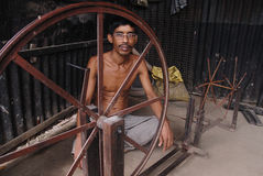 The weaver�s villages in India Stock Photos
