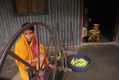The weaver's villages in India Stock Photography