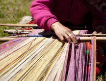 Weaver. Weaving Peru South America Stock Images