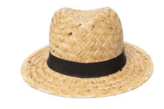 Weaves hat, Handmade Straw Hat  on white Royalty Free Stock Photos