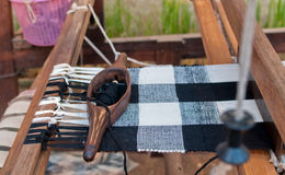 Weaving apparatus, handmade of Thailand Stock Photos