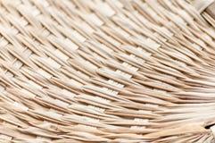 Weaving bamboo fan closeup texture Royalty Free Stock Photography