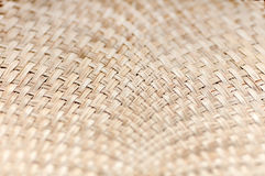 Weaving bamboo fan closeup texture Royalty Free Stock Photos