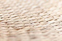 Weaving bamboo fan closeup texture Stock Photos