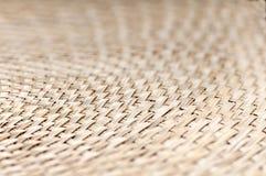 Weaving bamboo fan closeup texture Stock Photo