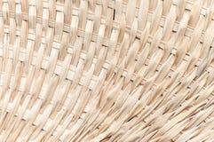 Weaving bamboo fan closeup texture Stock Image