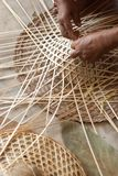 Weaving Bamboo Hat stock images