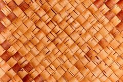 Weaving from birch bark. The Russian national trade - weaving from birch bark, it is possible to use as a background Royalty Free Stock Photography