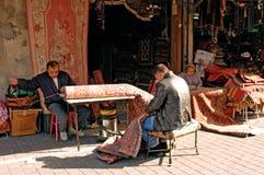 Weaving carpets Royalty Free Stock Photo
