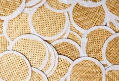 Weaving of circular bamboo Stock Image