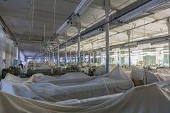Old weaving factory workshop Stock Image