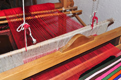 Weaving hand loom Royalty Free Stock Images
