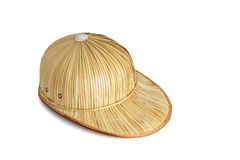 Weaving hat. Isolated on white background royalty free stock images
