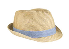 Weaving hat with clipping path on white background. Royalty Free Stock Images