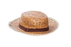 Weaving hat Stock Images