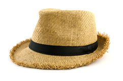 Weaving hat isolated on white Royalty Free Stock Photos