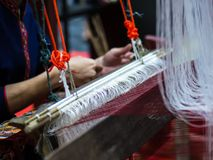 Weaving with local apparatus Stock Image