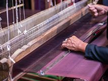 Weaving with local apparatus Stock Photography