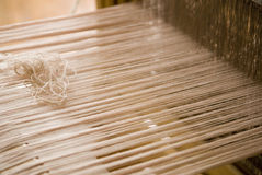 Weaving Loom. A Close Up Of A Weaving Loom Stock Photos