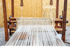 Weaving loom old Stock Photography