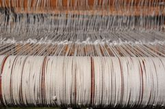 Weaving Loom Strings Stock Photo