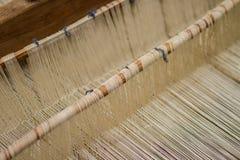 Weaving Loom and thread of yarn Royalty Free Stock Photo