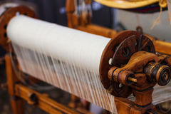Weaving Loom and thread of yarn Royalty Free Stock Photography