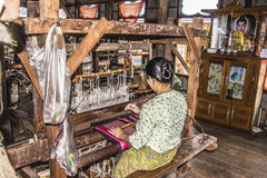 Weaving on a loom Stock Image