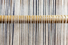 Weaving loom wooden stick Royalty Free Stock Photography