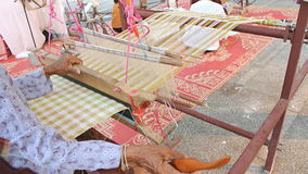 Weaving with looms Royalty Free Stock Photo