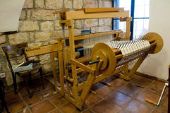 Weaving machine. Authentic old wooden weaving machine Stock Image
