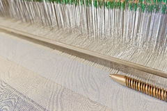 Weaving machine. Production Textile Weaving Loom Machine Stock Images