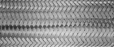 Weaving of metallic threads Royalty Free Stock Images