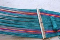 Weaving near Oaxaca Royalty Free Stock Photography