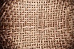 Weaving rattan basket Royalty Free Stock Images