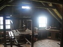 Weaving Room in Cape Breton. Weaving room at Sherbrook Village in Cape Breton Royalty Free Stock Photos