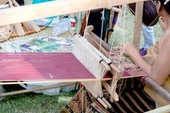 Weaving textile Royalty Free Stock Photos
