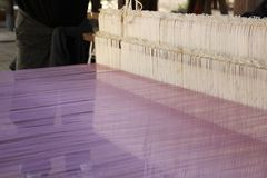 Weaving thread for the textile industry Royalty Free Stock Photography