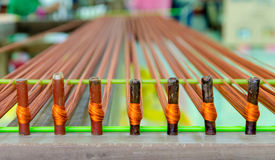 weaving thread for the textile industry Stock Photo