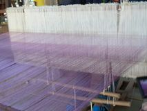 Weaving thread for the textile industry Royalty Free Stock Image