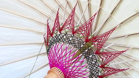 Weaving umbrella Thailand Royalty Free Stock Images