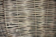 Weaving from willow branches. Background for the design of natural components stock photography
