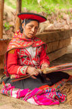 Weaving Woman Royalty Free Stock Images