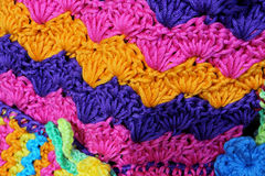 weavings colorés étonnants des fils de laine et de coton Image libre de droits