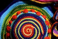 weavings colorés étonnants des fils de laine et de coton avec le geomet Image libre de droits