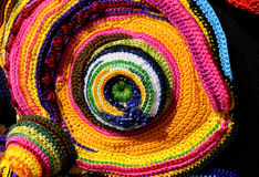 weavings colorés des fils de laine et de coton avec le shap géométrique Photo stock