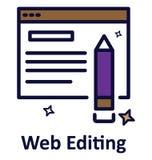 Web éditant l'icône d'isolement de vecteur qui peut facilement modifié ou éditer illustration libre de droits
